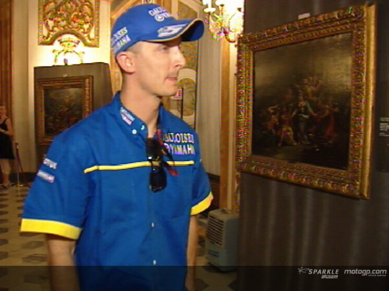 MotoGP riders soaking up some Italian culture in Florence