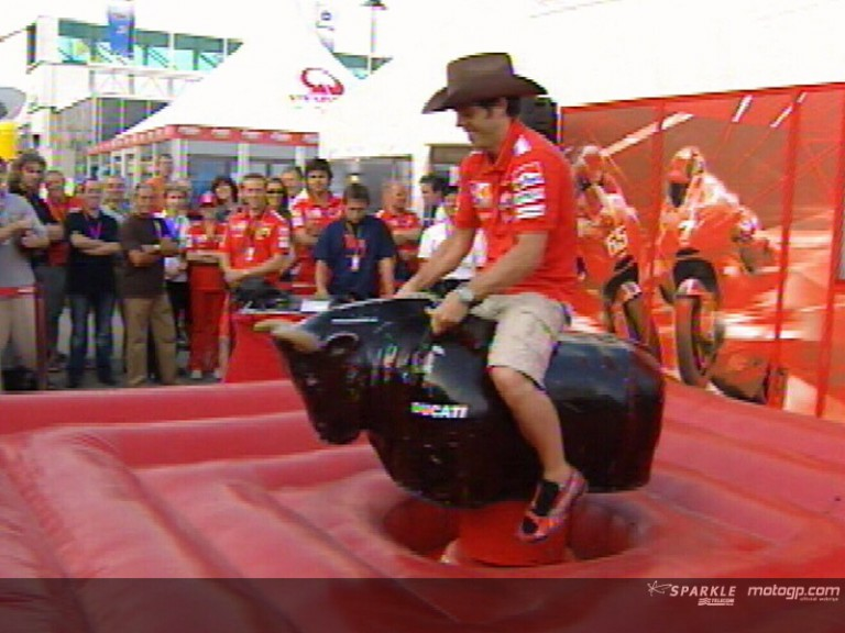 Capirossi and Checa enjoy Ducati´s rodeo