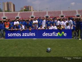 Movistar riders take the battle to the football field