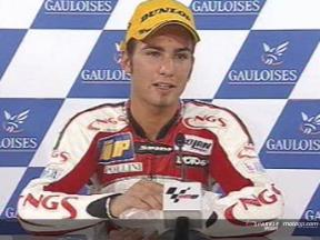 Interview de Mattia Pasini apres course