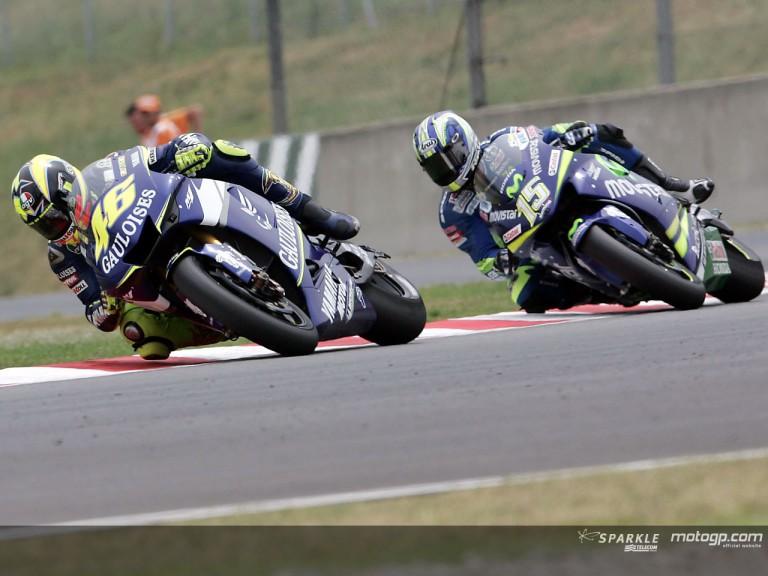 Rossi & Gibernau action Catalunya 2005