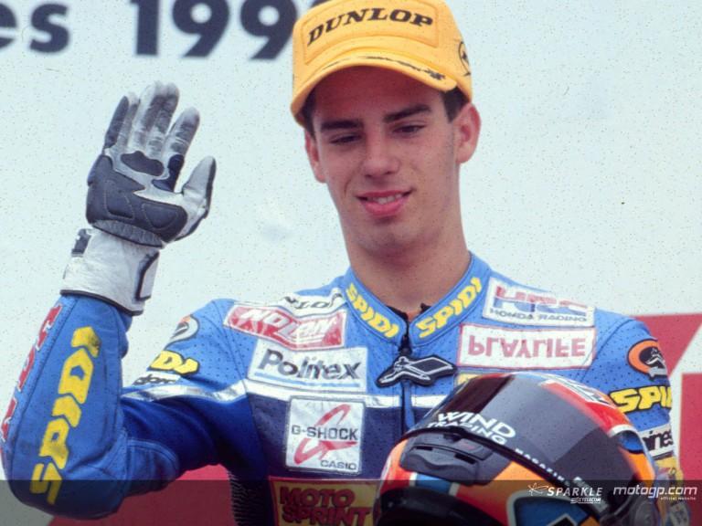 Melandri podium Assen 1998