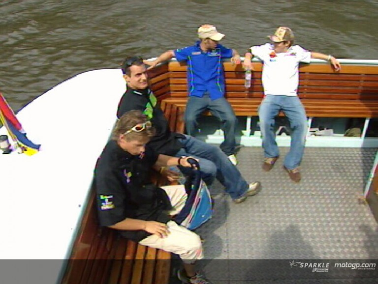 The MotoGP riders cruising in Amsterdam