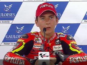 Jorge Lorenzo interview after the QP2