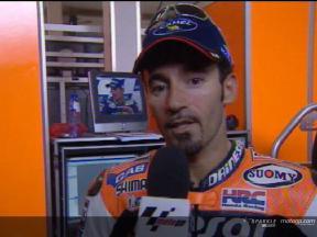 Entrevista a Max Biaggi tras la carrera