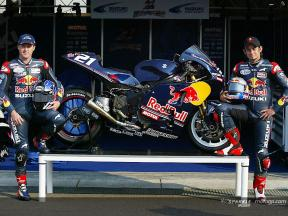 The Suzuki GSV-R in Red Bull livery for Laguna Seca