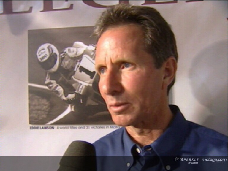 Eddie Lawson honoured as a `MotoGP Legend´ - Interview