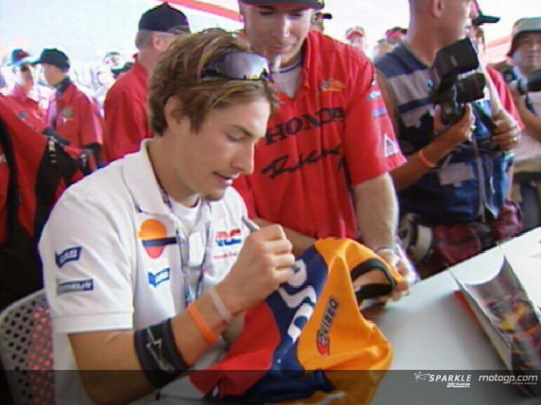 The Honda riders meet their fans at Laguna Seca