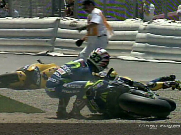Crash Melandri & Barros