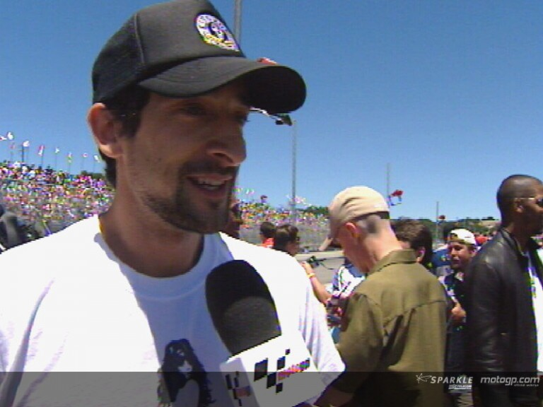 Adrien Brody awards an Oscar to Laguna Seca show