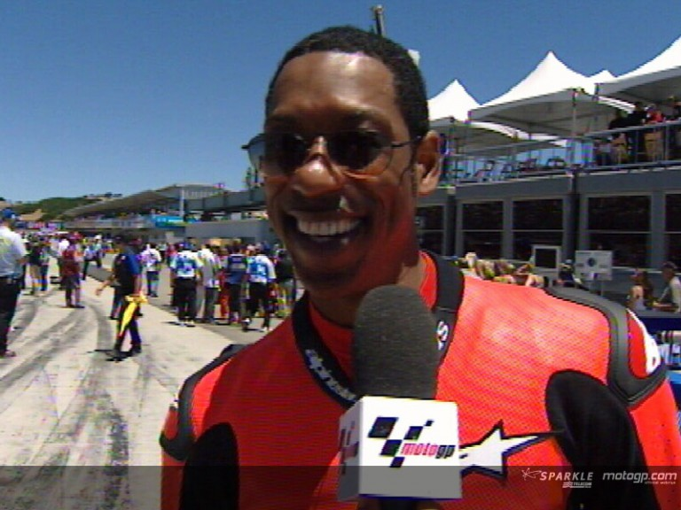 Interview with Hollywood actor Orlando Jones at the Red Bull USGP