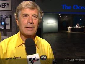 Giacomo Agostini, en el 50º aniversario de Yamaha