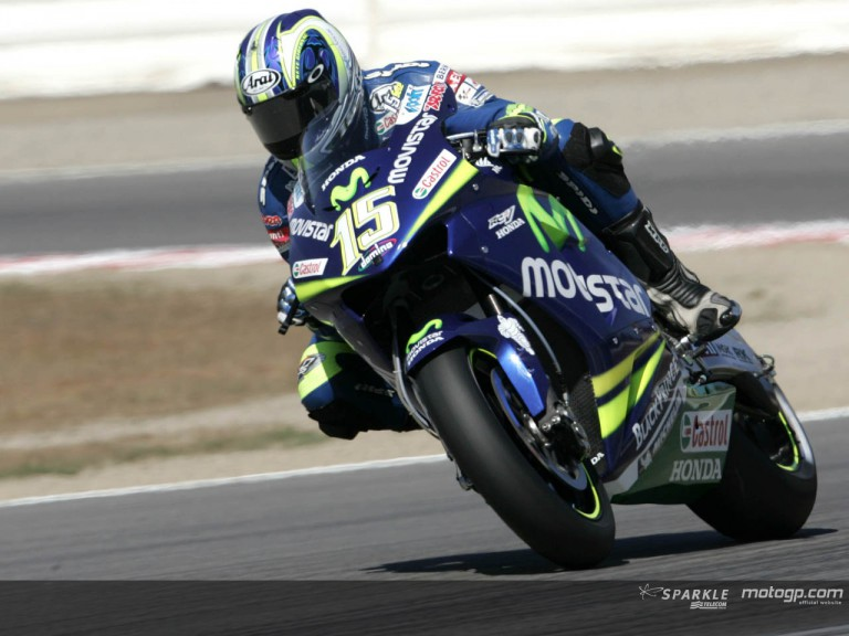 Gibernau action US GP 2005