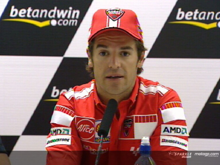Carlos Checa Press Conference interview