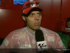 Loris Capirossi interview after the race