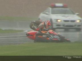 Max Biaggi crash during the race