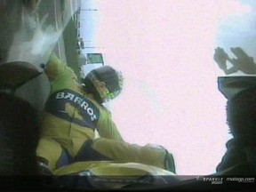 Alex Barros crash during the QP -2nd view