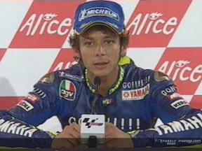 Interview de Valentino Rossi apres course
