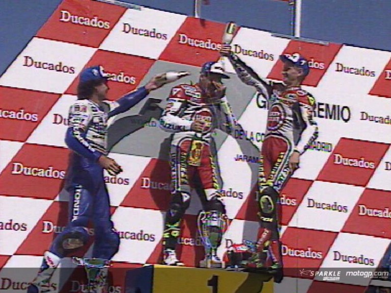 Barros celebrates his 250th GP with a podium