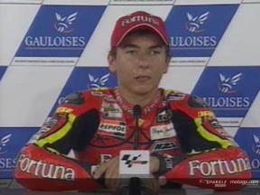Intervista a Jorge Lorenzo post QP2
