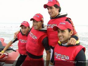 Fortuna Racing riders enjoy a jet ski experience