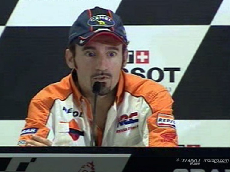 Max Biaggi interview  at the Press Ponference