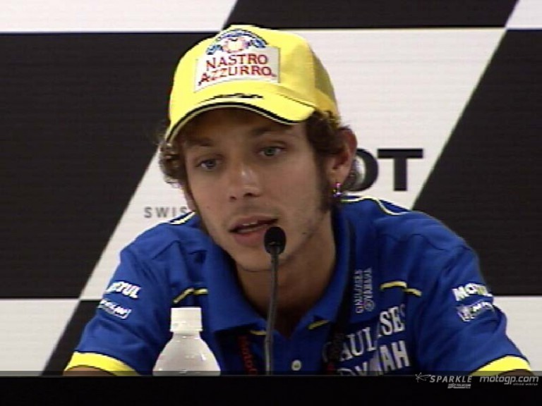 Valentino Rossi interview at the Press Ponference