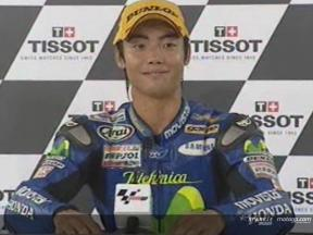 Hiroshi Aoyama interview after race