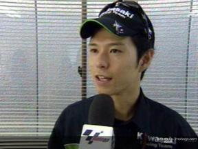 Shinya Nakano interview after race