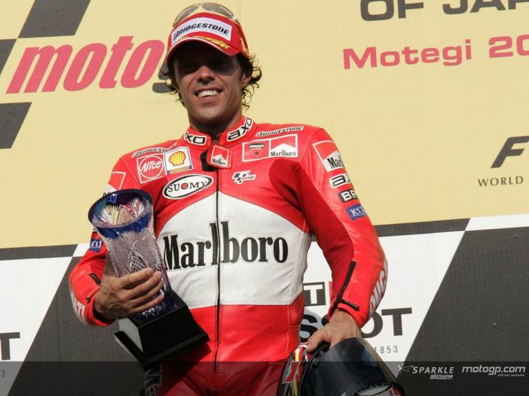 Capirossi podium Motegi 2005