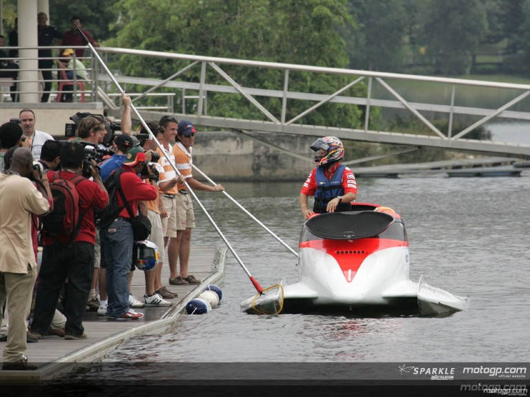 MotoGP riders making splash in Powerboat