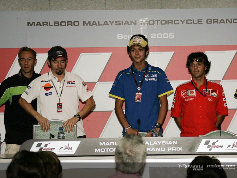 Press conference Sepang 2005