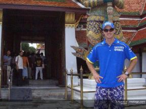 Edwards makes a stop in Thailand before flying to Sepang