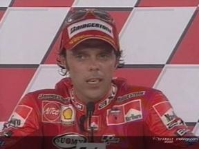 Interview de Loris Capirossi apres course