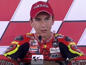Jorge Lorenzo interview after QP2