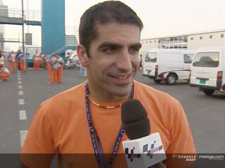 F1 driver Marc Gené visits the MotoGP paddock