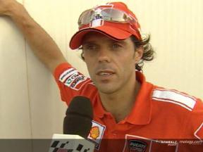 Loris Capirossi interview after race