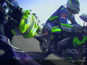 On board with Rossi on his first lap in Losail