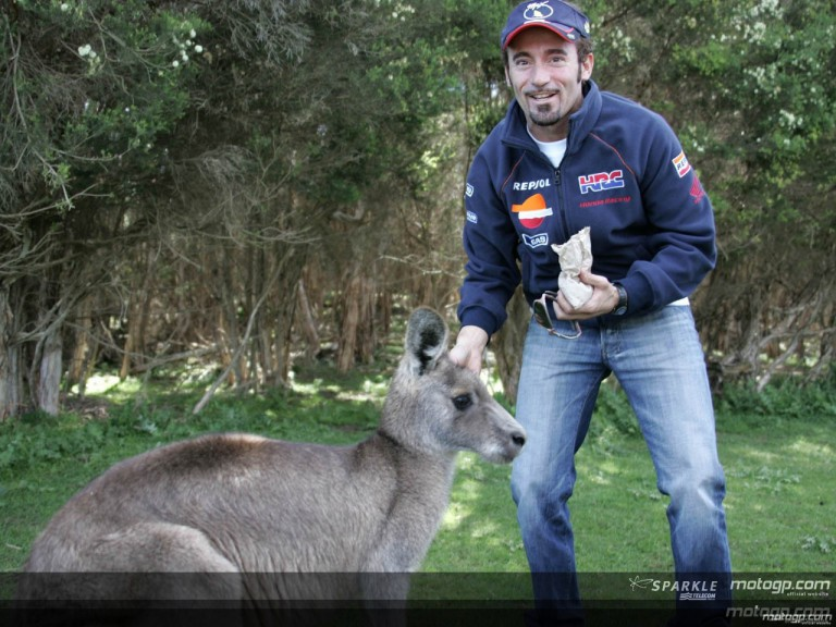 MotoGP riders visit the Phillip Island Wildlife Park