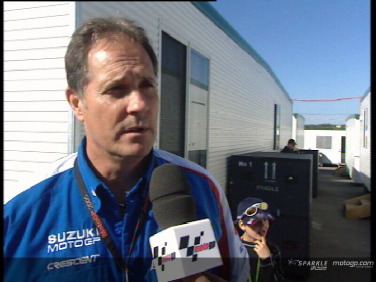 Team Suzuki´s Physio Dean Miller talks about Roberts´ injury