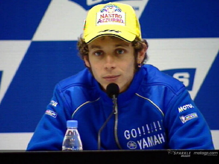 Valentino Rossi interview at the Press Conference