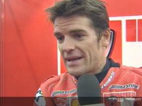 Carlos Checa interview after race