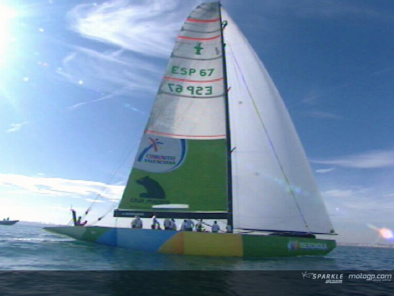 Edwards enjoys sailing with Spanish team