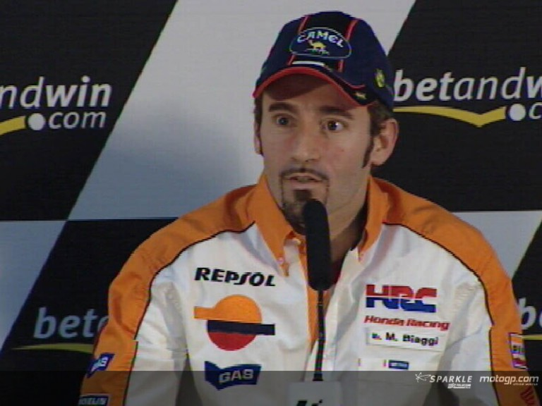 Max Biaggi interview at the Press Conference