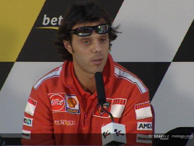 Loris Capirossi interview at the Press Conference