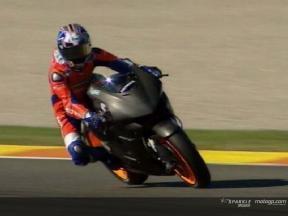 Dani Pedrosa makes his MotoGP debut with Honda