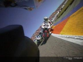 On board with Barros on his first lap in Valencia