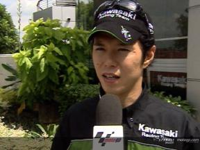 Interview de Shinya Nakano apres Sepang Test