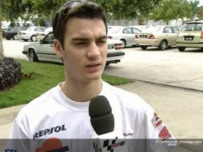 Daniel Pedrosa interview at Sepang test