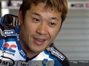 Tamada starts work on his Honda